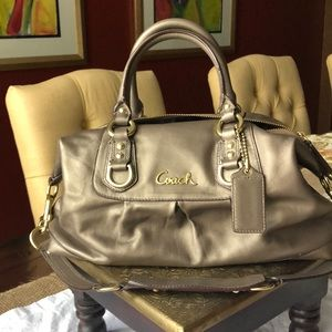 Coach Ashley metallic leather handbag